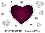 dark purple heart isolated on...