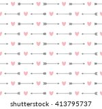 cute seamless pattern with... | Shutterstock .eps vector #413795737