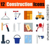flat design construction icon...