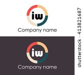 iw letters business logo icon... | Shutterstock .eps vector #413821687