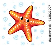 starfish. cartoon starfish... | Shutterstock .eps vector #413823007