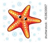 Starfish. Cartoon Starfish...