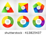 collection of infographic... | Shutterstock .eps vector #413825437