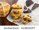 fresh homemade biscuits on a... | Shutterstock . vector #413833297