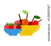 berries icon.   | Shutterstock .eps vector #413839567