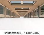 urban geometry  looking up to... | Shutterstock . vector #413842387