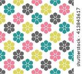 vintage floral pattern ...   Shutterstock .eps vector #413843617