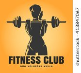 fitness club emblem. training... | Shutterstock .eps vector #413847067