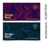 abstract banners. liquid lines... | Shutterstock .eps vector #413847943