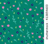 seamless pattern with different ... | Shutterstock .eps vector #413854603