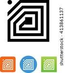radio frequency identification  ... | Shutterstock .eps vector #413861137