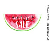 summer sale greeting banner.... | Shutterstock .eps vector #413879413