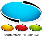 oval  ellipse badge  button... | Shutterstock .eps vector #413884663