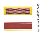 set of unused striking surface... | Shutterstock . vector #413898433