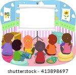 stickman illustration of kids...   Shutterstock .eps vector #413898697