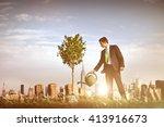 businessman entrepreneur profit ...   Shutterstock . vector #413916673
