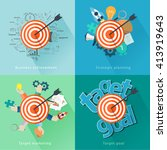 target ideas concept with flat... | Shutterstock .eps vector #413919643