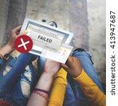 Small photo of Failed Fail Failing Fiasco Inability Unsuccessful Concept