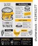 menu placemat food restaurant... | Shutterstock .eps vector #413953177