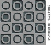 seamless square and circle... | Shutterstock .eps vector #413954887