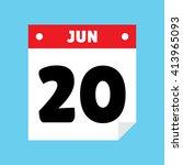 calendar icon flat jun 20