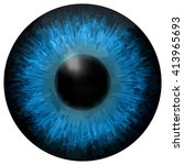 eye iris vector texture   Shutterstock .eps vector #413965693