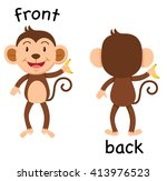 opposite words front and back... | Shutterstock .eps vector #413976523