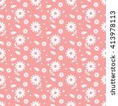 pink seamless flower pattern | Shutterstock .eps vector #413978113