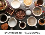 different types of coffee in... | Shutterstock . vector #413980987