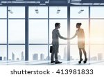 business partners handshake | Shutterstock . vector #413981833
