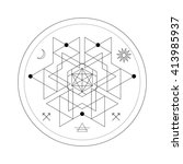 mystical geometry symbol.... | Shutterstock .eps vector #413985937