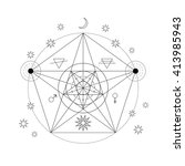 mystical geometry symbol.... | Shutterstock .eps vector #413985943