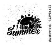 retro summer design poster.... | Shutterstock .eps vector #413986633