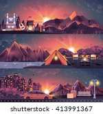 stock vector illustration set... | Shutterstock .eps vector #413991367