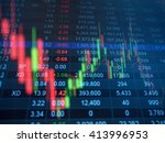 double exposure of stocks... | Shutterstock . vector #413996953
