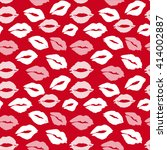 kiss lips pattern seamless... | Shutterstock . vector #414002887