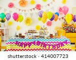 Colorful Dessert Table With...