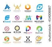 alphabet letters logo set. logo ... | Shutterstock .eps vector #414008887