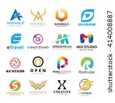logo collection  abstract...   Shutterstock .eps vector #414008887