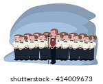 boys choir cartoon   Shutterstock .eps vector #414009673