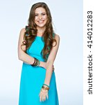 smiling positive emotional... | Shutterstock . vector #414012283