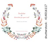 circle frame  wreath of the... | Shutterstock . vector #414016117