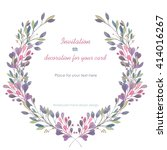 circle frame  wreath of the... | Shutterstock . vector #414016267