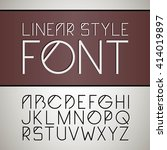 vector linear font.  simple and ... | Shutterstock .eps vector #414019897
