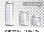 Empty Glass Jars Of Different...