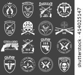 classic guns emblem  | Shutterstock .eps vector #414025147