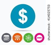 wifi  sms and calendar icons.... | Shutterstock .eps vector #414025753