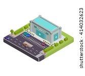 isometric pharmacy vector... | Shutterstock .eps vector #414032623