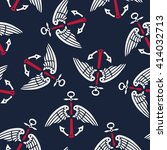 seamless pattern of white and... | Shutterstock .eps vector #414032713
