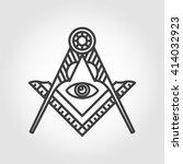 vector grey masonic freemasonry ... | Shutterstock .eps vector #414032923